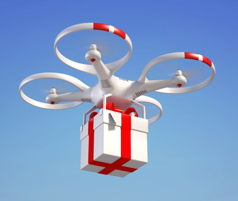 dron na prezent